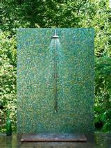 Glassy Green Outdoor Shower | 2Modern Blog