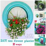 DIY Tire Flower Planter Projects : Useful Ideas