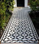 Using Geometric Floor Tiles in your Garden Path - Original Features