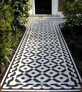using geometric floor tiles in your garden path original features