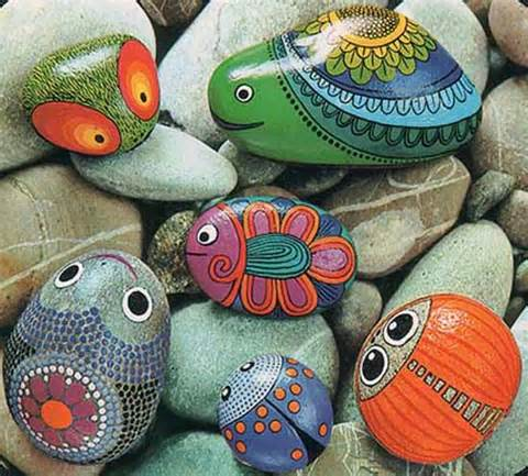 rocks for artistic yard and garden designs 40 cute rockpainting ideas
