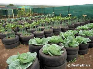 recycled car truck tire gardens