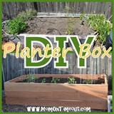 diy garden planter box garden outdoor projects pinterest