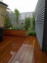 hardwood deck roof terrace privacy screen raised planter and floating
