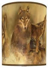 Howling Wolves Shade rustic-lamp-shades