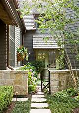 landscaping ideas classic glass front door with beautiful landscaping