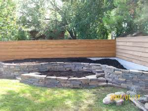design raised bed along fence line fence board fence boards