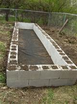 diy cinder block raised garden bed done