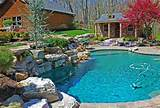 Rustic Country Landscaping Ideas Rustic pool country landscape