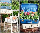spring garden ideas fun suitcase planters dump a day