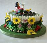 Cake is for a lady turning to 70 today and who also loves gardening.