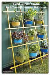 DIY hanging Garden idea using a trellis. Idea for the apartment ...
