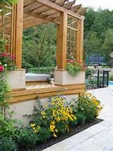 Garden Planters In A Pergola Add A Classy Touch