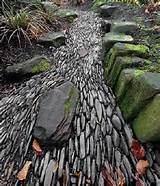 dry river bed gardening landscaping pinterest