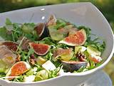 figs salad with apples grapes mustard vinaigrette