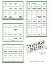 Spring #Square #Foot #Garden Plan {OneCreativeMommy.com}