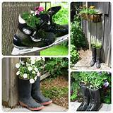 Creative DIY garden container ideas - Boots and skates planted with ...