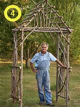 Build a garden arbor . Here's another idea . And another .