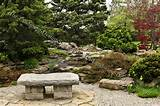 stone garden bench design ideas