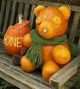 Pumpkin Teddy bear | garden ideas | Pinterest