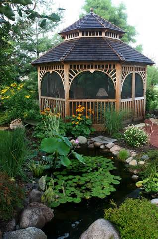 Aquascape Your Landscape: Gazebos and Water Gardens: A Match Made in ...