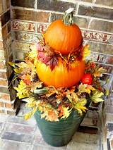 pumpking topiary container garden