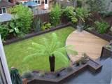 small garden makeover new fences paving sleepers landscape