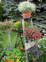 Garden step ladder | Rustic Garden Decor | Pinterest