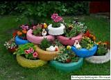diy rainbow tire flower pots gardening that i love pinterest