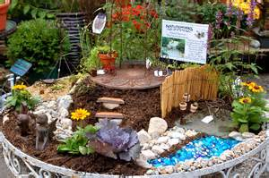 ... this old table and we turned it into a magical miniature fairy garden