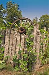 whimsical rustic garden ideas | ... Whimsical Wood Fence With Rustic ...