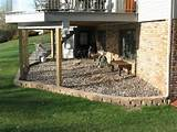 Under the deck landscaping- no more muddy doggie footprints on rainy ...