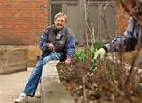 university of illinois master gardeners prepare garden beds at the
