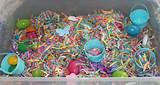 spring easter theme shredded paper plastic eggs spring foam shapes