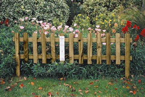 small garden fence ideas garden flower beds flower garden designs ...