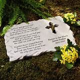 Purchase the Personalized Cross Memorial Stone at an always low price ...