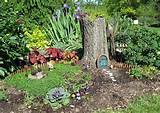gardening fairy homes | Tree stump for fairy house | Garden Ideas