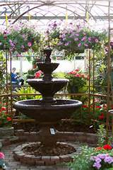 simple fountain and beautiful plants gardening ideas pinterest