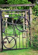 bikes gates fence ideas reuse recycle garden gates gardens gates
