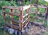 garden fences made from pallets - and they double as an herb garden