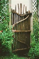 rustic gate from driftwood