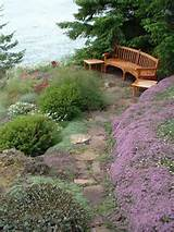 ... garden furniture bench low tables secret garden landscape design
