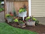 ... front of the house: Garden Container, Container Garden, Galvanized Tub
