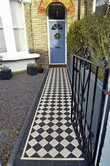 ... White Victorian Mosaic Tile Path in Balham London - London Garden Blog