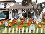 d coration halloween pour un jardin qui donne la chair de poule