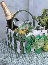 plastic canvas spring irish luck basket