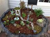Homemade outdoor fairy garden!