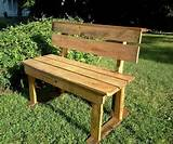 diy pallet outdoor garden bench jpg