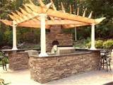 Rustic Outdoor Kitchen Designs: Unique Roof Built Rustic Outdoor ...