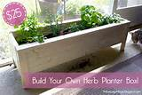 Fabulously Vintage: Pinterest Challenge -- DIY Herb Planter Box
